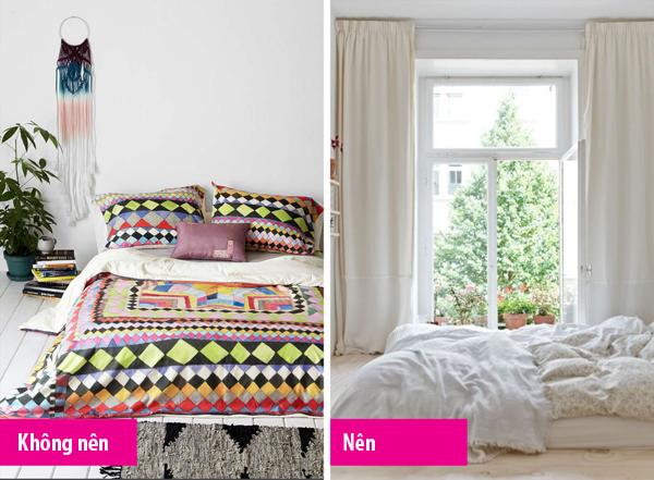7 sai lầm nên tránh trong phòng ngủ