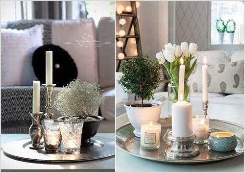 trang trí bàn nước phòng khách