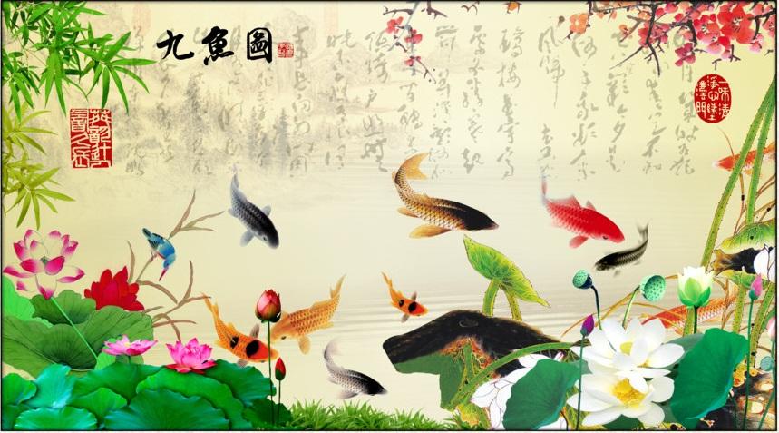 tranh phong thủy về cá chép
