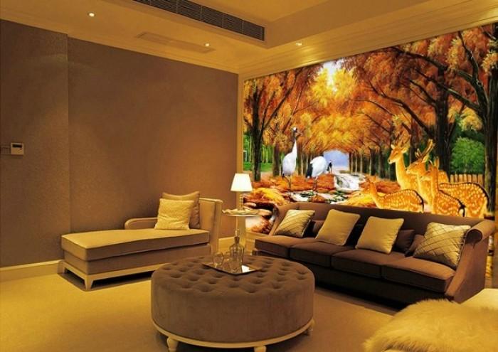 phòng khách ấm áp