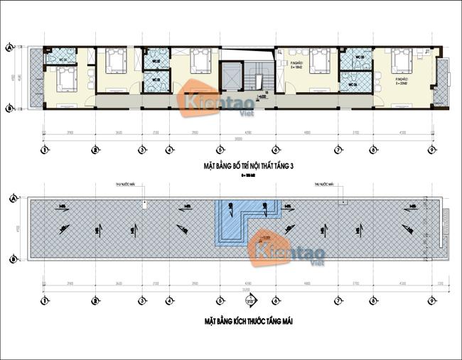 thiết kế nhà nghỉ 3 tầng