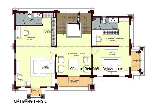 biệt thự 4 tầng phong cách tân cổ điển