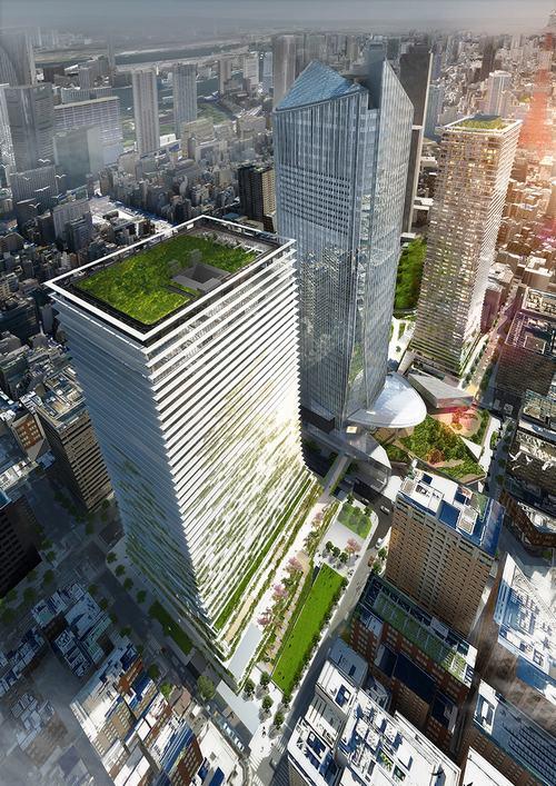 Kế hoạch xây dựng 2 tòa cao ốc tại trung tâm Tokyo