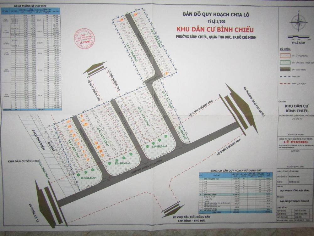 Mở bán đất nền kdc Bình Chiểu, Q.thủ Đức, giá rẻ, liên hệ chủ đầu tư công  ty Lê Phong: 0986.836.808