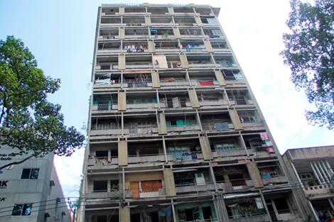 Tháo dỡ chung cư cũ