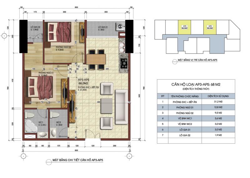 Thiết kế căn hộ AP3-AP5
