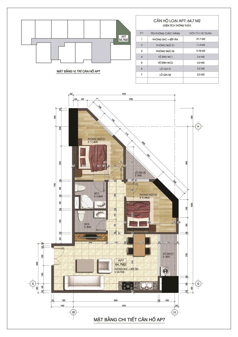 Thiết kế căn hộ AP7