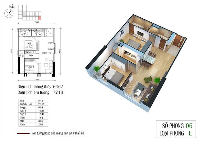 Thiết kế căn hộ 06-E