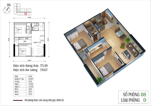 Thiết kế căn hộ 08-D