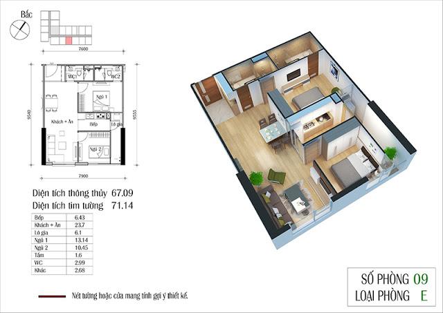 Thiết kế căn hộ 09-E