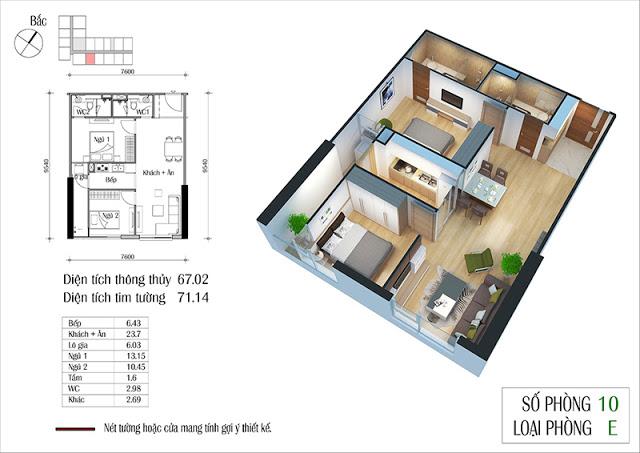 Thiết kế căn hộ 10-E