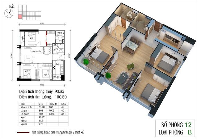 Thiết kế căn hộ 12-B
