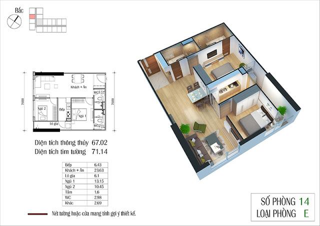 Thiết kế căn hộ 14-E