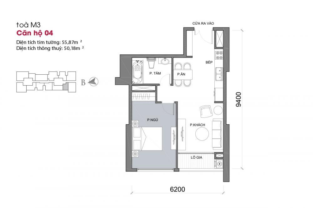 Thiết kế căn hộ 04 - Tòa M3