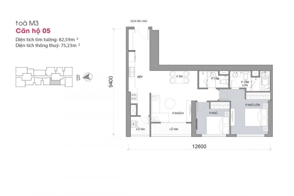 Thiết kế căn hộ 05 - Tòa M3