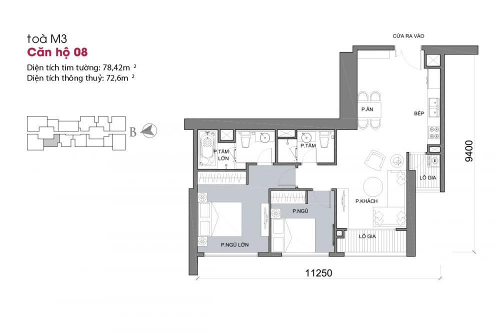 Thiết kế căn hộ 08 - Tòa M3