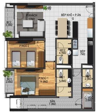 Thiết kế căn hộ 04-T3A