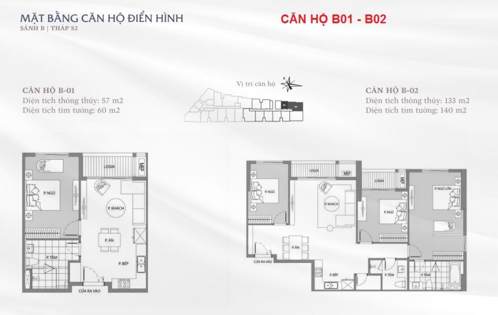 Thiết kế căn hộ B01-B02 Sun Grand City