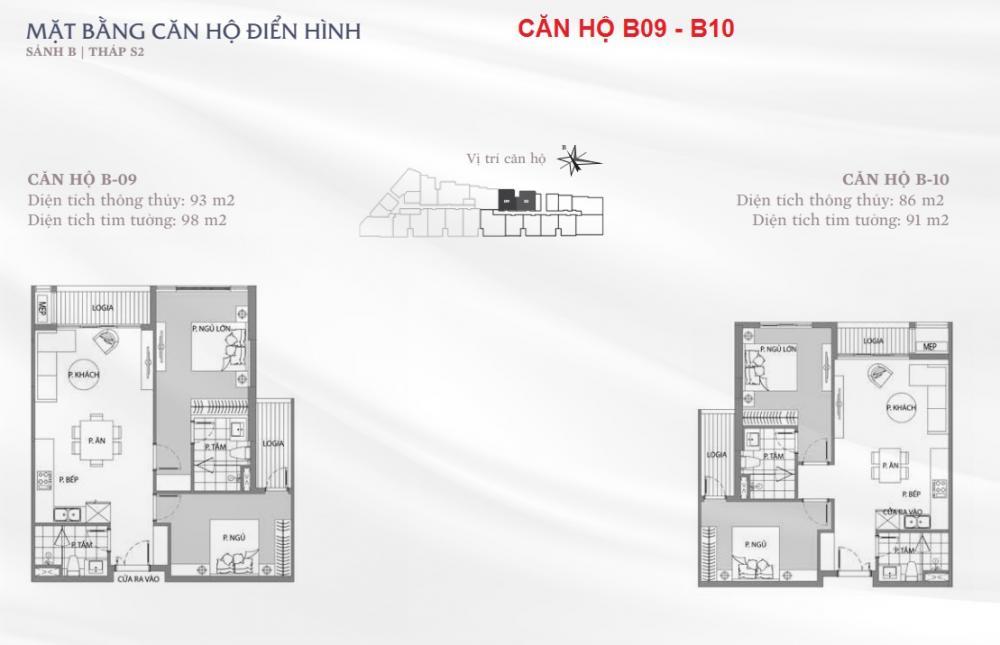 Thiết kế căn hộ B09-B10 Sun Grand City