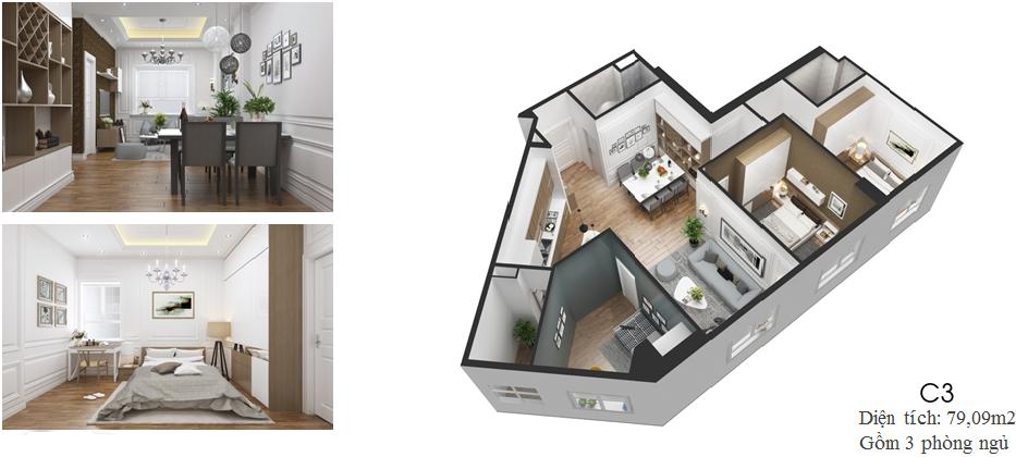Thiết kế căn hộ C3