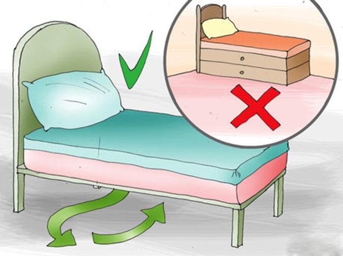 kê giường đúng cách