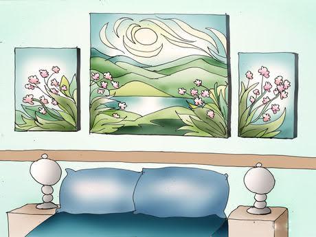 tranh trong phòng ngủ