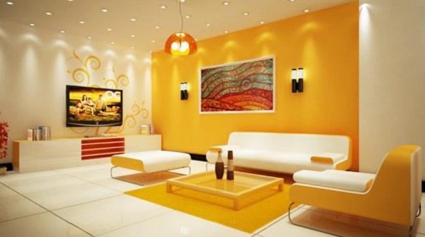phòng màu vàng