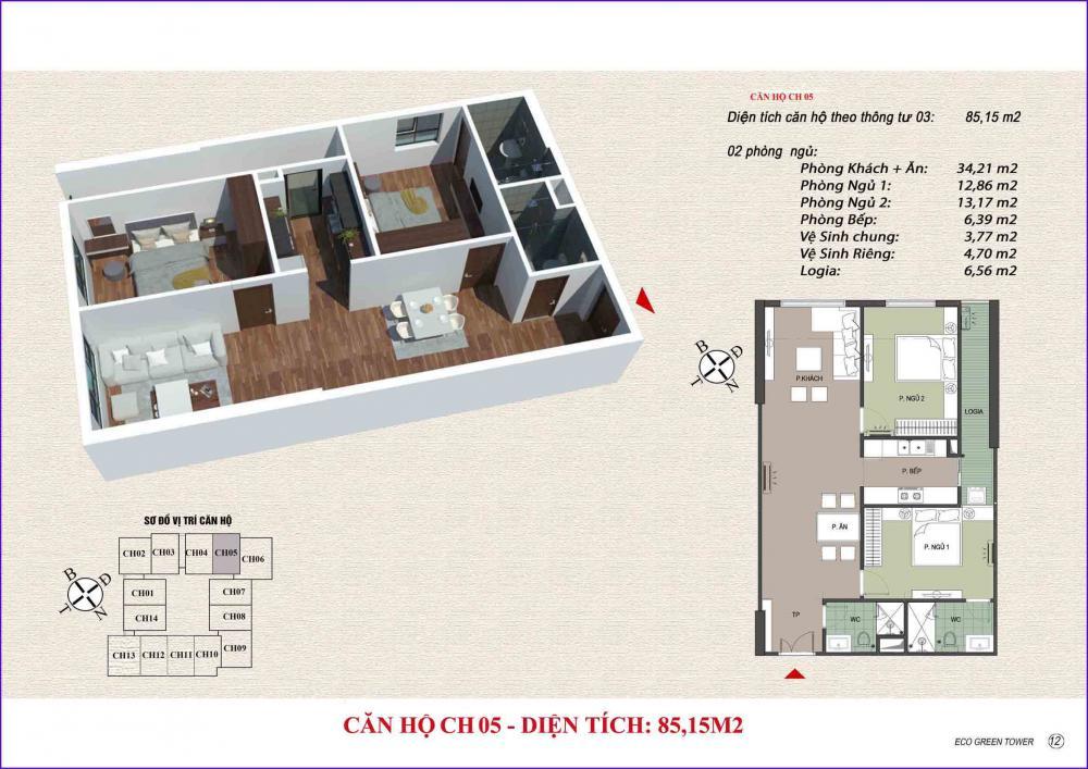 Thiết kế căn hộ CH 05 Viễn Đông Star