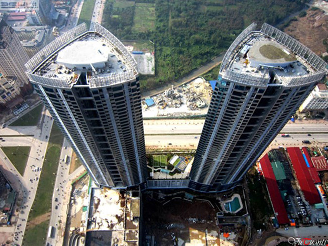 bãi đỗ trực thăng trên nhà cao tầng
