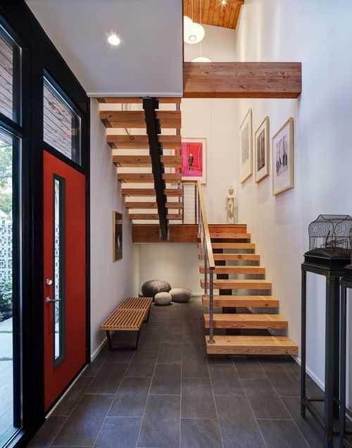 cầu thang gỗ nguyên khối 2017