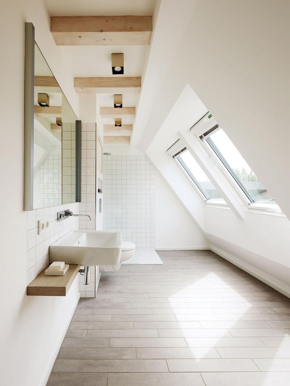 phòng tắm gác mái