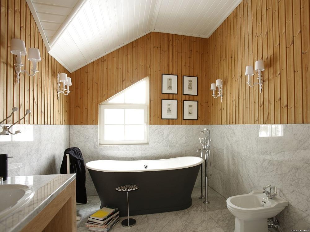 vẻ đẹp phòng tắm gác mái