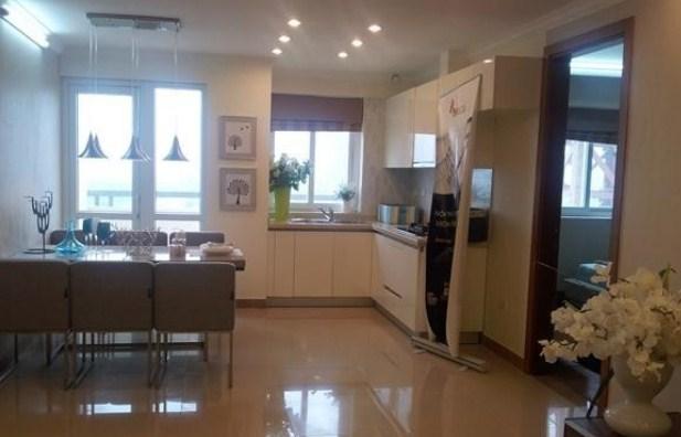 Phòng khách chung cư Green House Việt Hưng