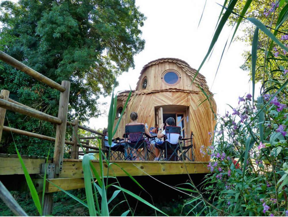 Nhà gỗ hình cú mèo