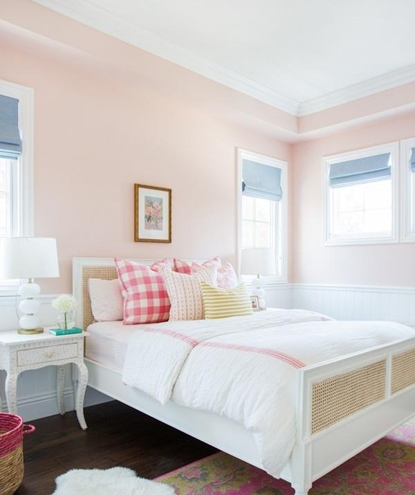 trang trí nhà màu hồng đào