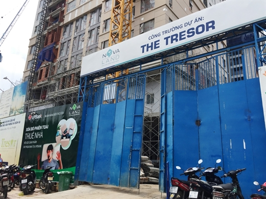 công trường dự án The Tresor