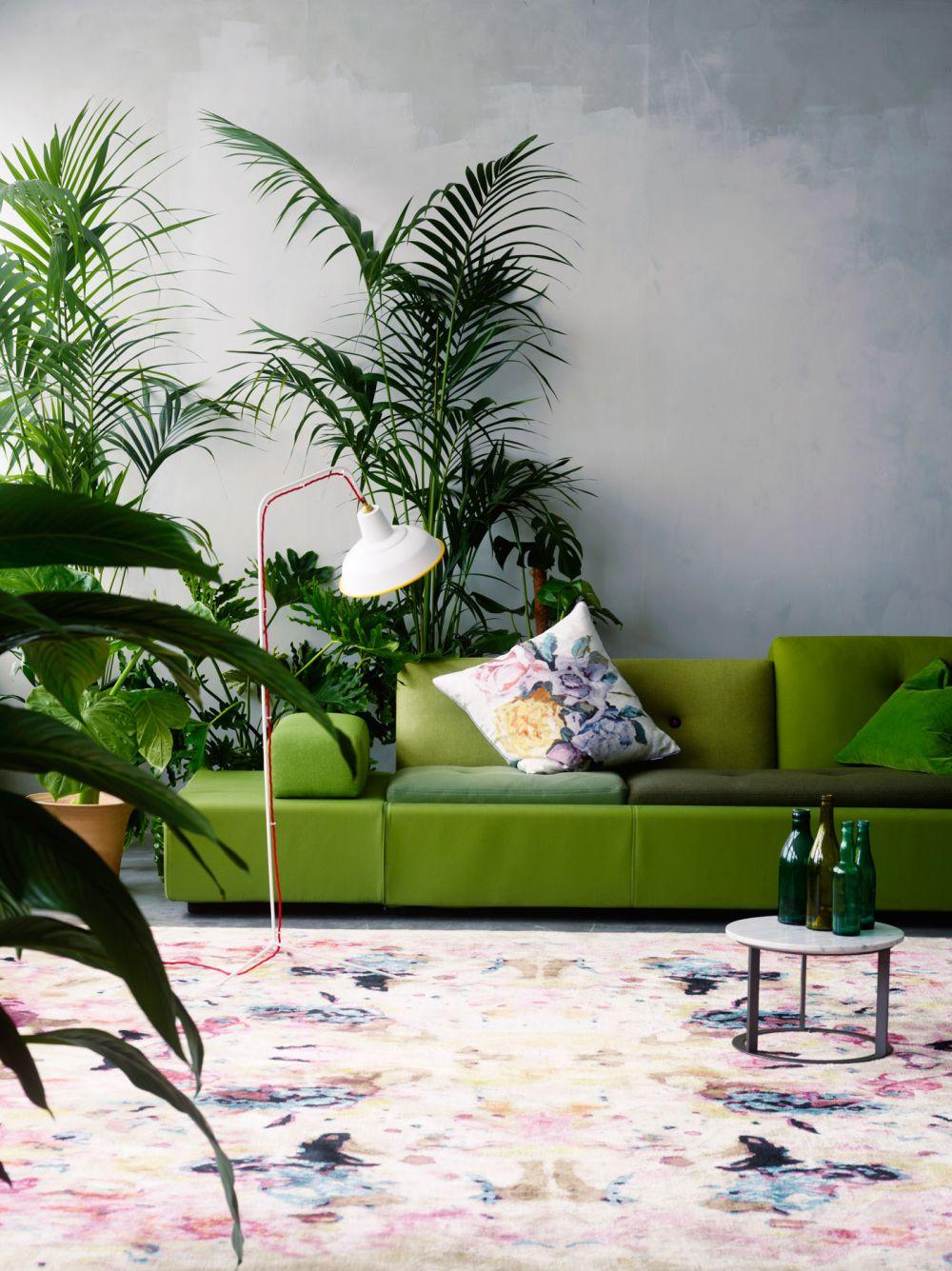 Bắt kịp xu hướng với nội thất màu xanh lá cây