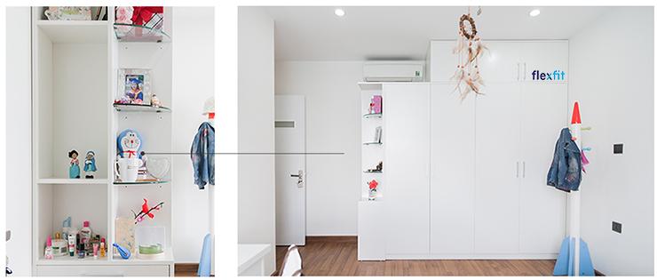 tủ quần áo kết hợp kệ trang trí