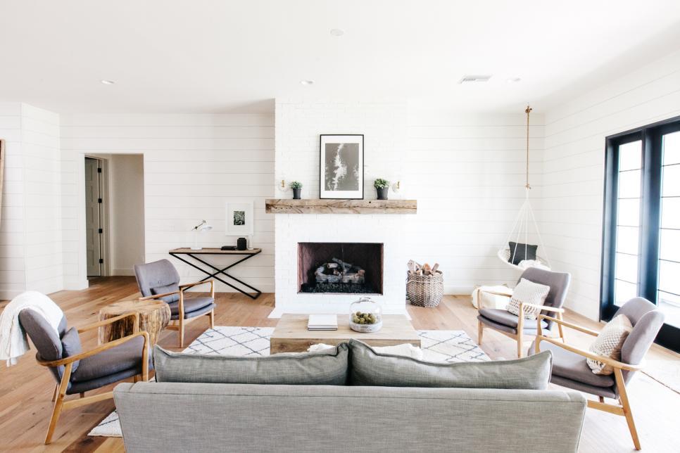 hông gian sống thêm ấn tượng với gỗ ốp tường phong cách