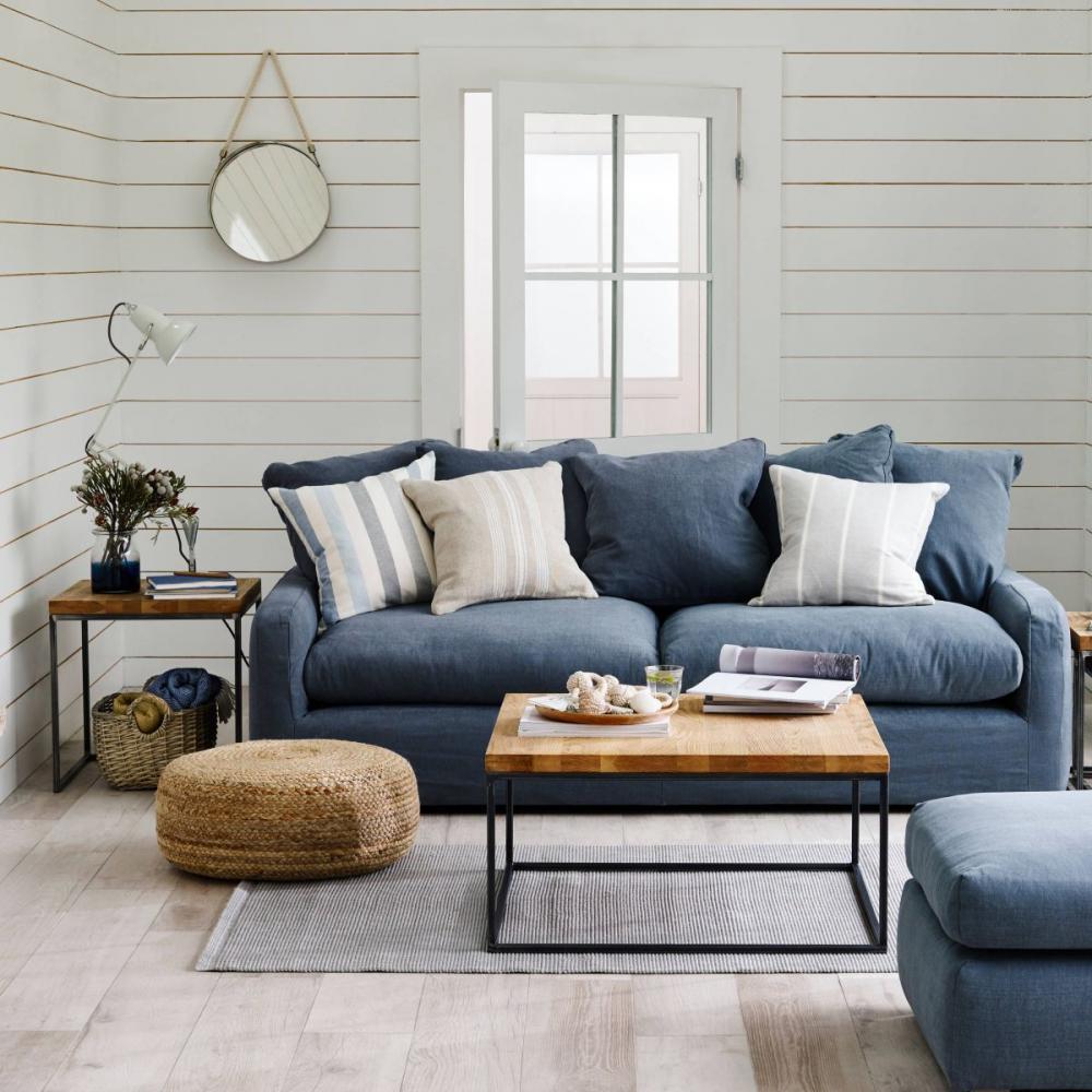 trang trí phòng khách với chất liệu gỗ