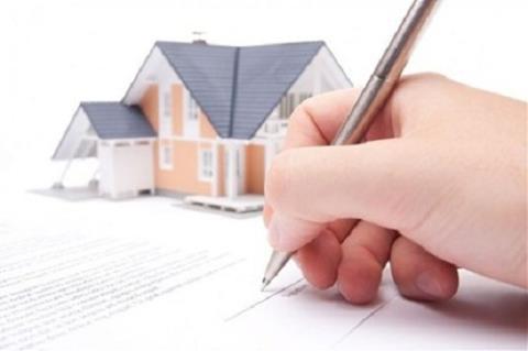 mua nhà bằng giấy viết tay