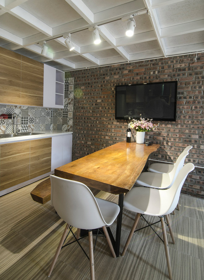 không gian bếp