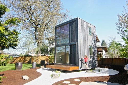 Ngôi nhà 2 tầng diện tích 13m2 có thể xoay theo hướng mặt trời