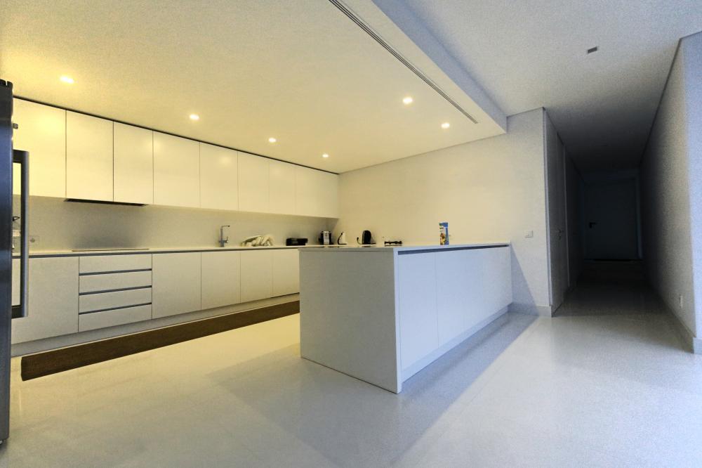 sàn linoleum lát bếp