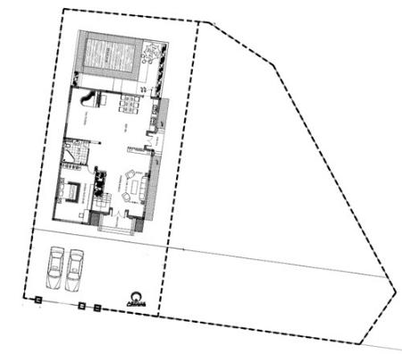 Tư vấn thiết kế nhà 2 tầng trên mảnh đất méo