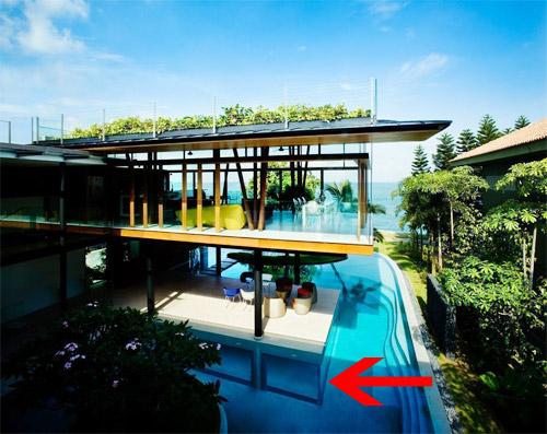 Độc đáo căn phòng triệu đô nằm dưới đáy bể bơi