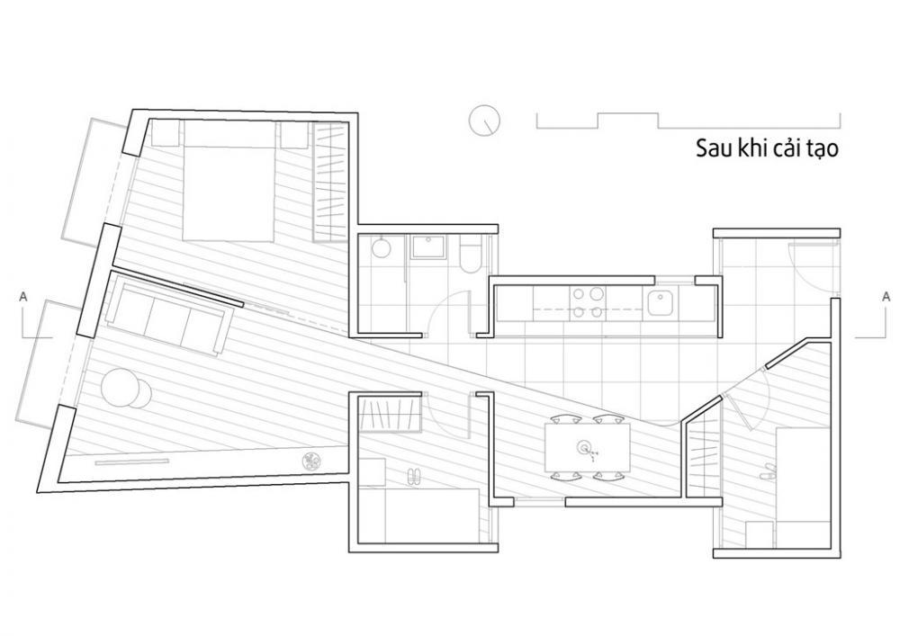 Thiết kế căn hộ tiện nghi với bếp ẩn sau cửa trượt - Ảnh minh hoạ 10