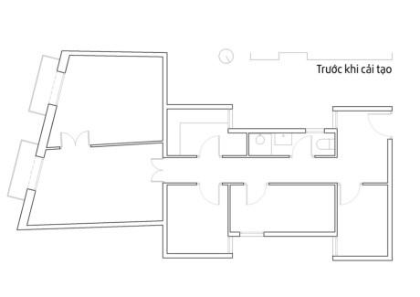 Thiết kế căn hộ tiện nghi với bếp ẩn sau cửa trượt - Ảnh minh hoạ 9