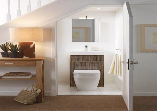 Nhà nhỏ có nên bố trí khu vệ sinh dưới gầm cầu thang?