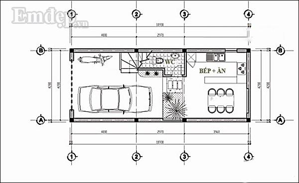 Mẫu thiết kế nhà 4 tầng hiện đại cho gia đình 3 thế hệ
